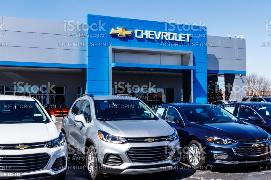 Chevrolet Automobile Dealership. Chevy is a Division of General Motors IX stock photo