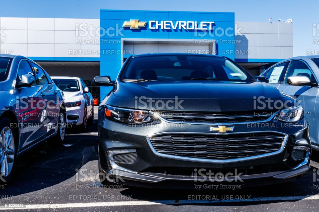 Chevrolet Automobile Dealership. Chevy is a Division of General Motors XIV stock photo