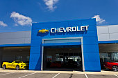 Indianapolis, US - July 10, 2016: Chevrolet Automobile Dealership. Chevrolet is a Division of General Motors I