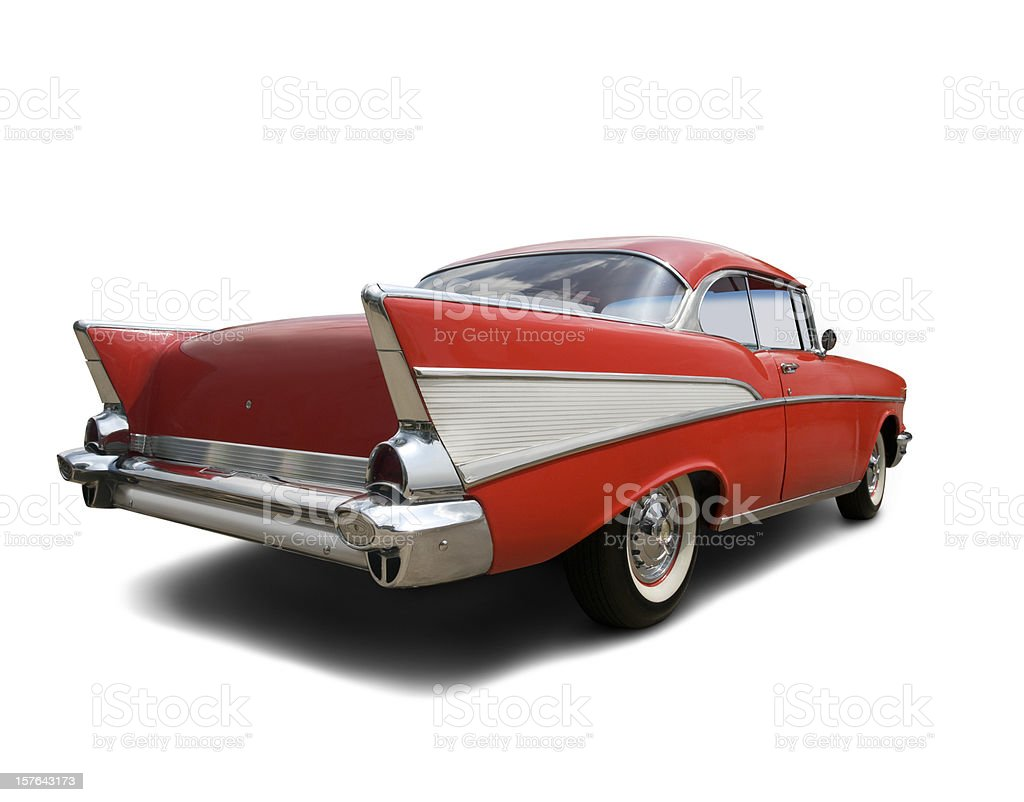 Chevrolet Bel Air 1957 - Rear View stock photo