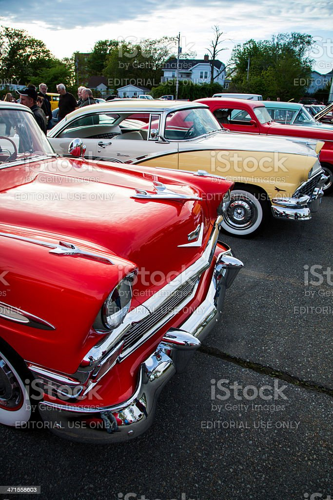 Chevrolet Bel Air and Ford Fairlane stock photo