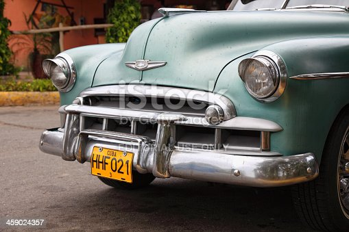 Havana, Сuba - February 16, 2013: Chevrolet Bel Air from 1950 parked in the center of Havana