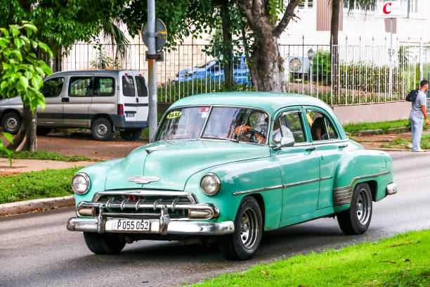 Chevrolet Bel Air Havana, Cuba - June 6, 2017: Motor car Chevrolet Bel Air in the city street. early 20th century stock pictures, royalty-free photos & images