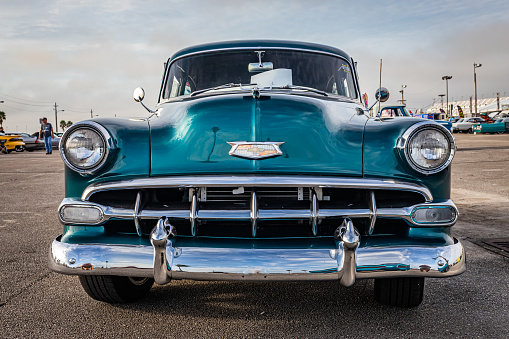 Daytona Beach, FL - November 29, 2020: 1954 Chevrolet BelAir at a local car show.