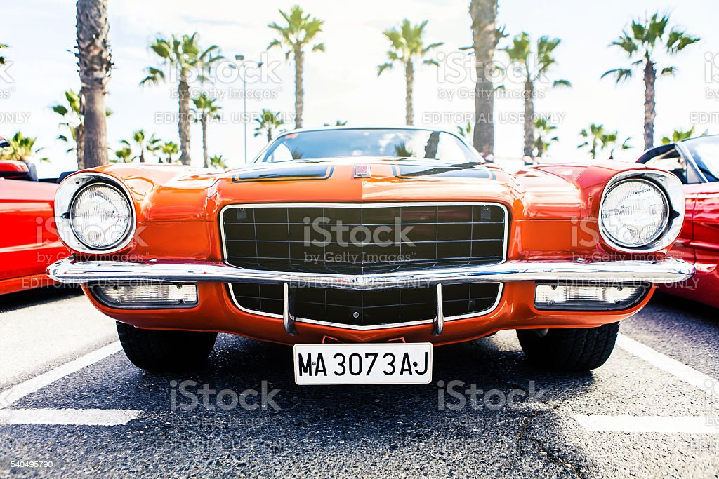 Chevrolet Camaro from 1972 stock photo