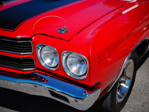 1970 Chevrolet Chevelle 1970 Chevrolet Chevelle car show stock pictures, royalty-free photos & images