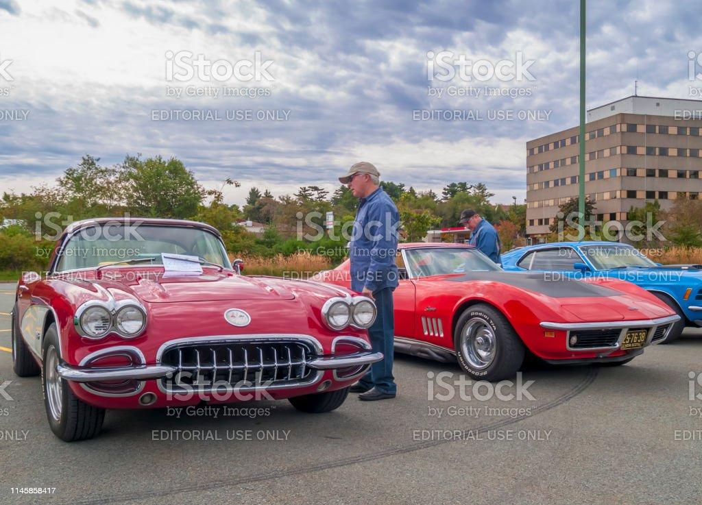 1969 Corvette Stingray >> 1960 Chevrolet Corvette 1969 Corvette Stingray Stock Photo