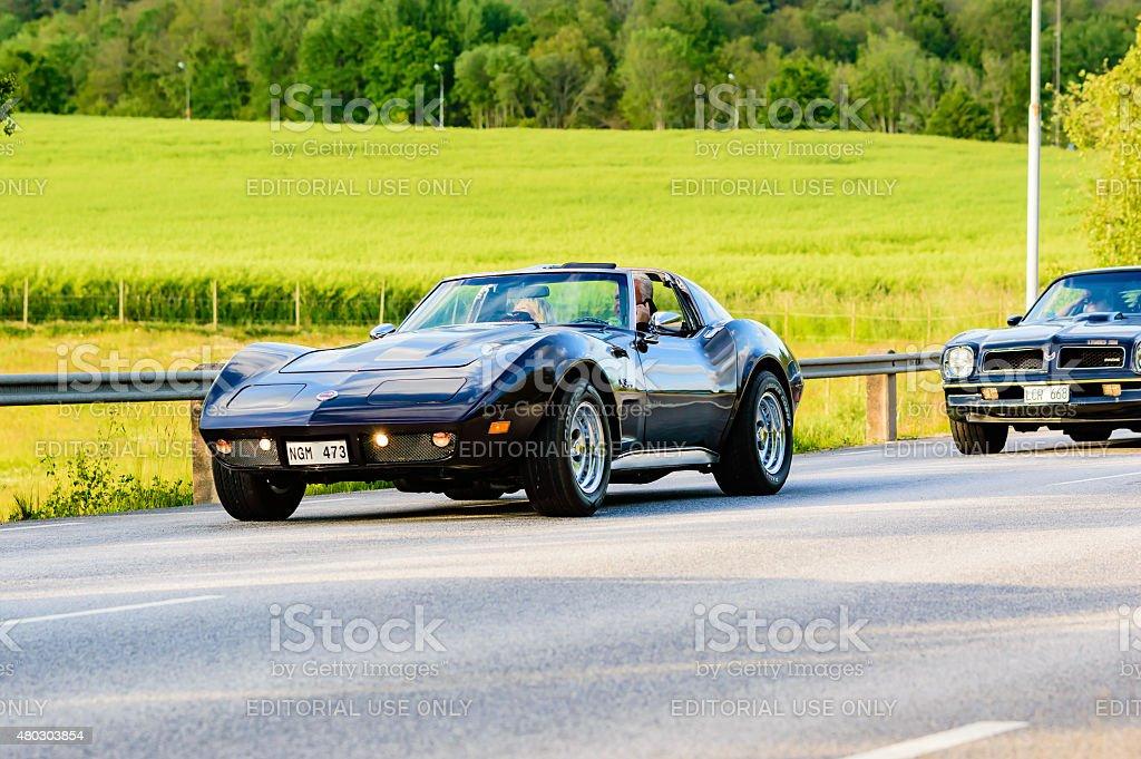 Chevrolet Corvette 1974 stock photo