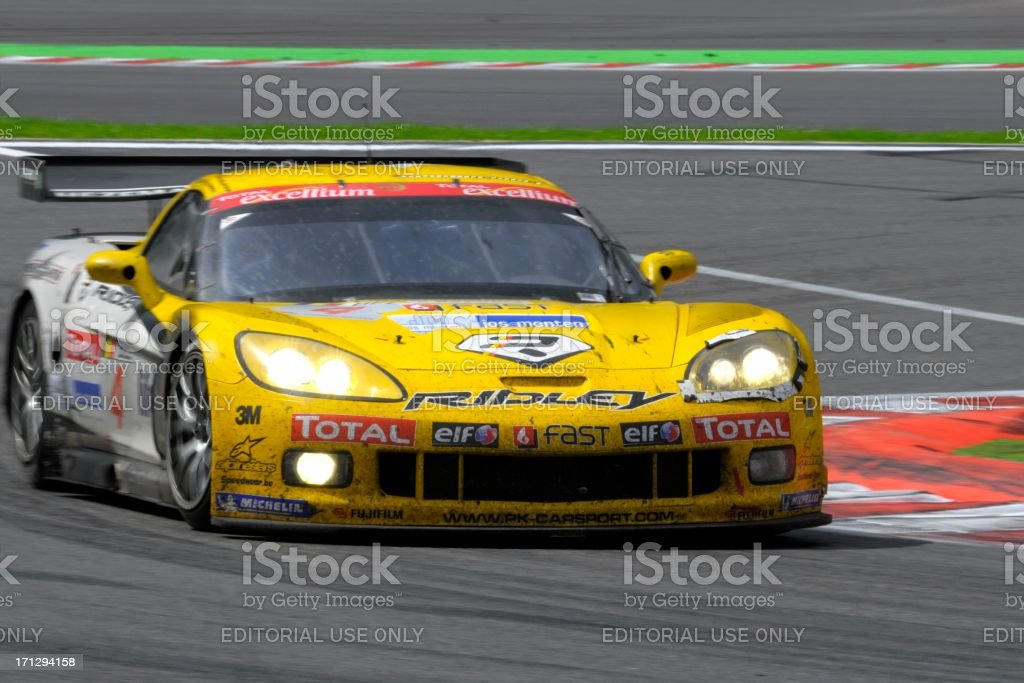 Chevrolet Corvette C6.R race car at the race track stock photo