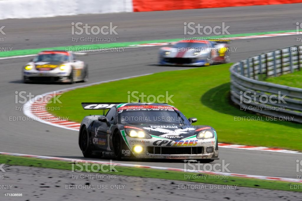 Chevrolet Corvette C6.R race car at the race track stock photo