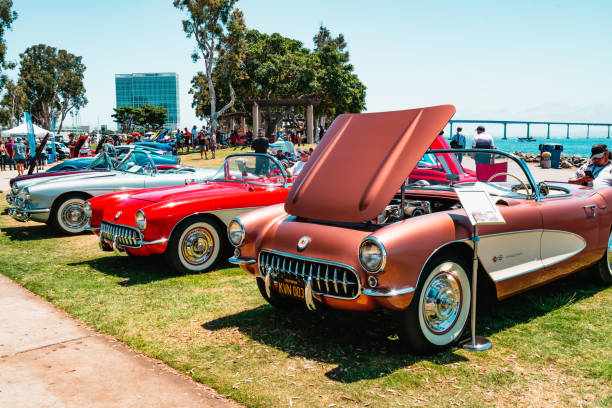 Chevrolet Corvette Car Show in San Diego, California stock photo
