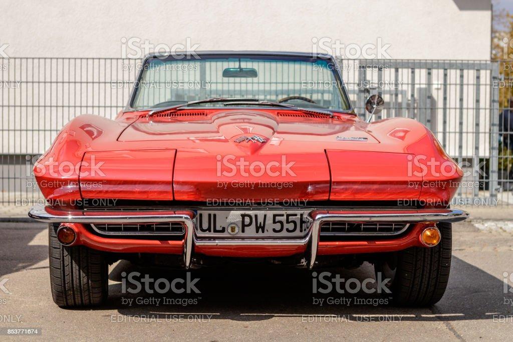 Chevrolet Corvette oldtimer car at the US Car Meeting event on...