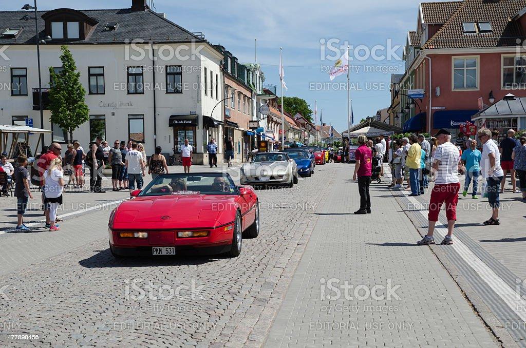 Chevrolet Corvette parade stock photo