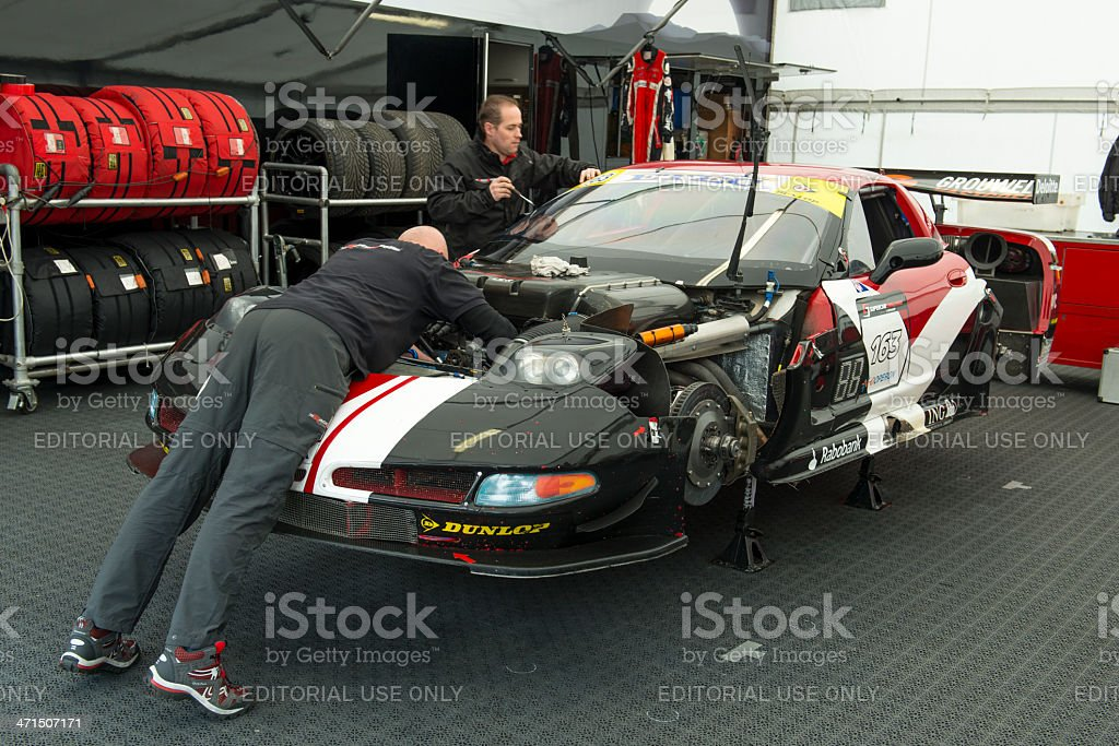 Chevrolet Corvette race car stock photo