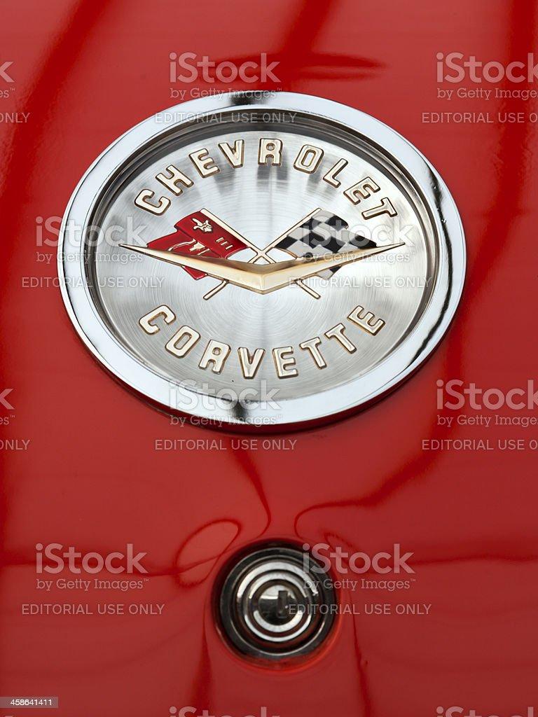 Chevrolet Corvette sign stock photo