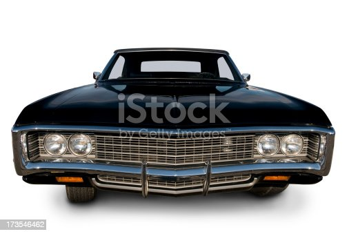An original 1969 Chevrolet Impala. Clipping Path on Vehicle.