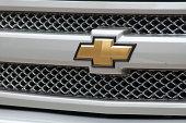 Ojai, California USA - January 7, 2015: Chevy pickup pulling a travel trailer in beautiful Santa Paula CA.