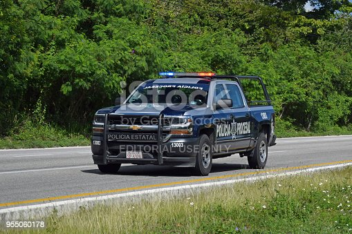 istock Chevrolet police car on the highway 955060178