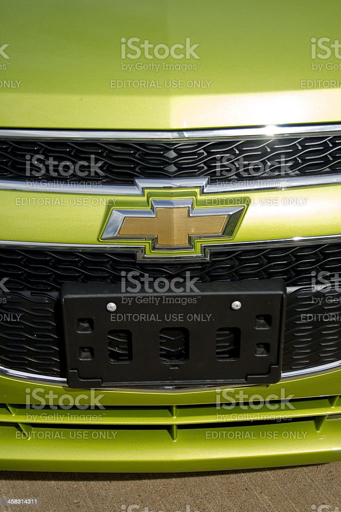 Chevrolet Spark Grille Detail royalty-free stock photo