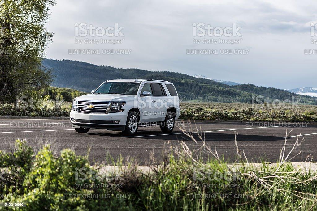 Chevrolet Tahoe LTZ stock photo
