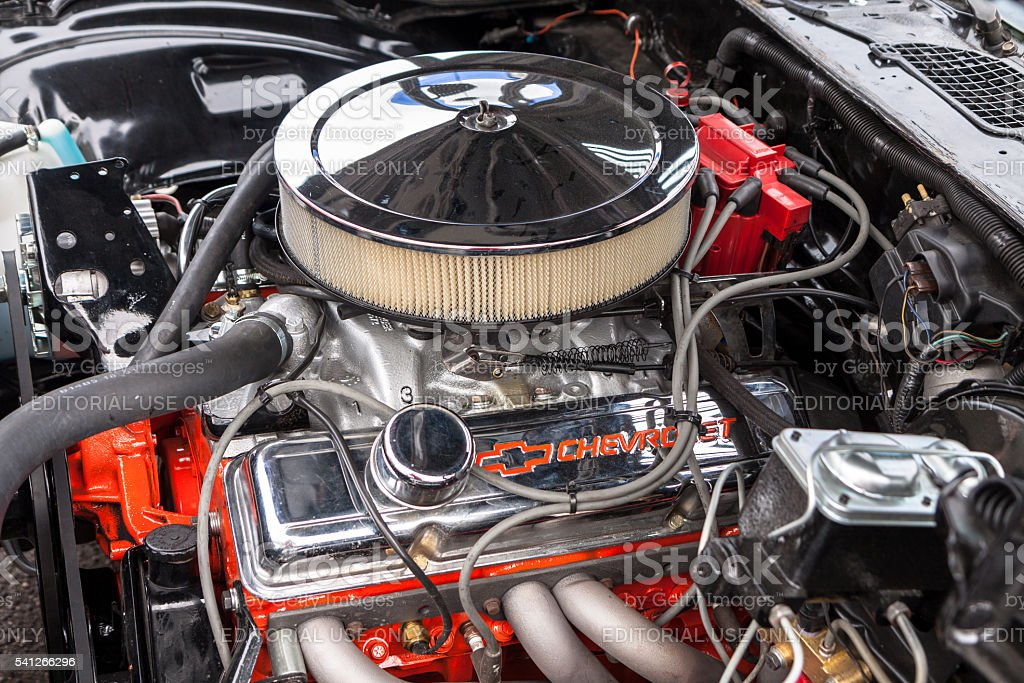 Chevrolet V8 engine stock photo