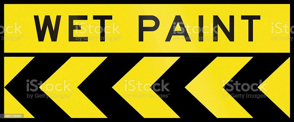 Chevron Alignment To The Left Wet Paint In Australia Stock