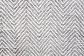 Chevron carpet in white and grey