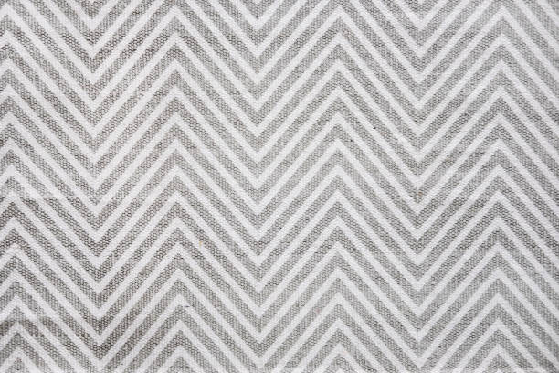chevron carpet in white and grey - chevron stock photos and pictures