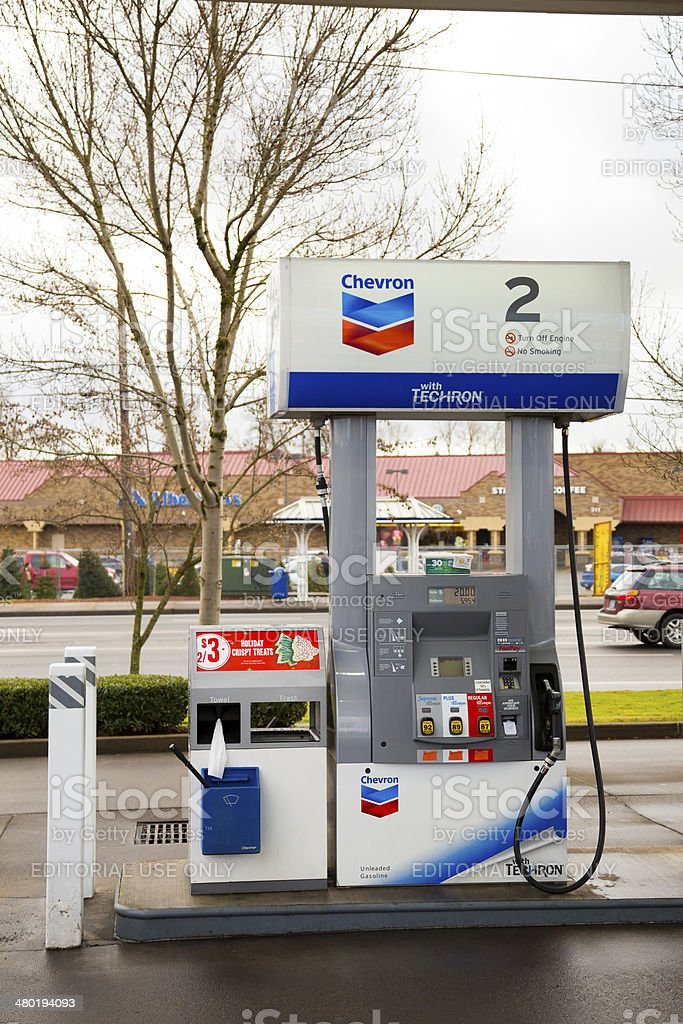 Chevron Gas Pump stock photo