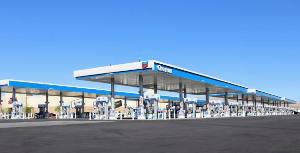 Chevron Gas Station Jean Nevada stock photo