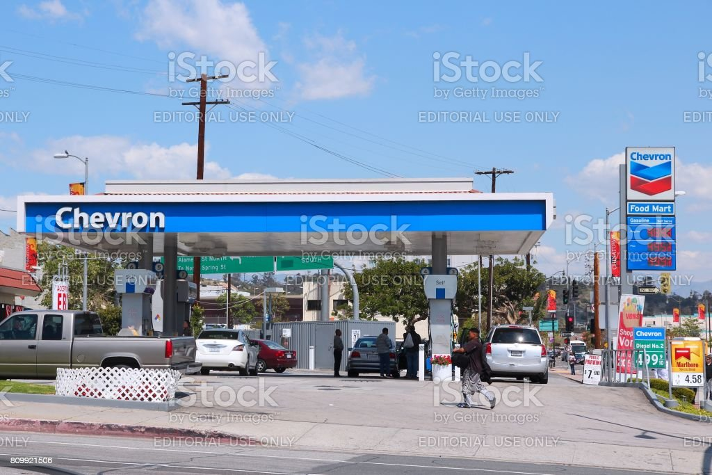 Chevron gas station stock photo