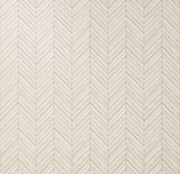Chevron herringbone natural parquet, floor texture stock photo