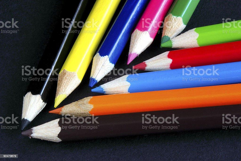chevron of colour royalty-free stock photo