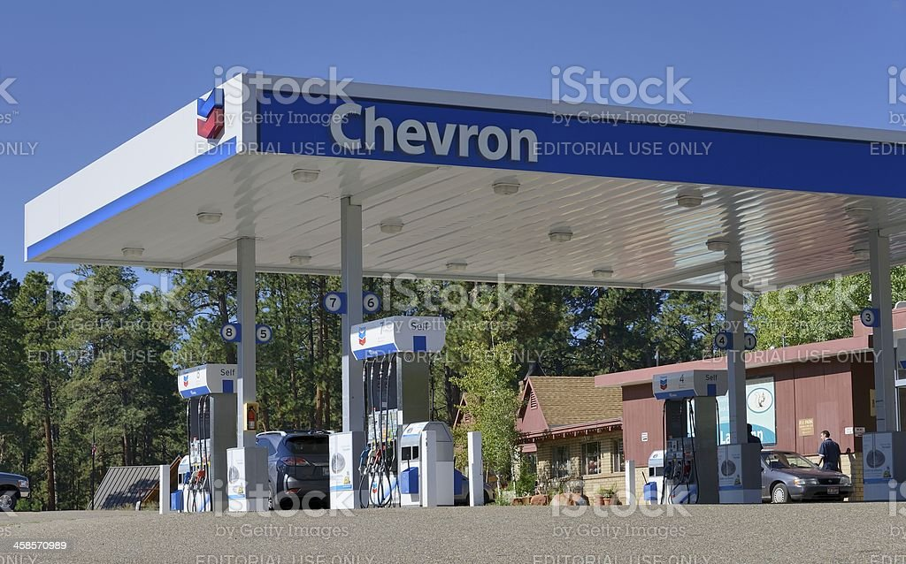 Chevron stock photo