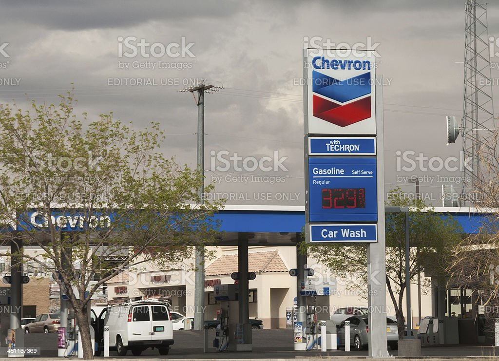 Chevron Service Station stock photo