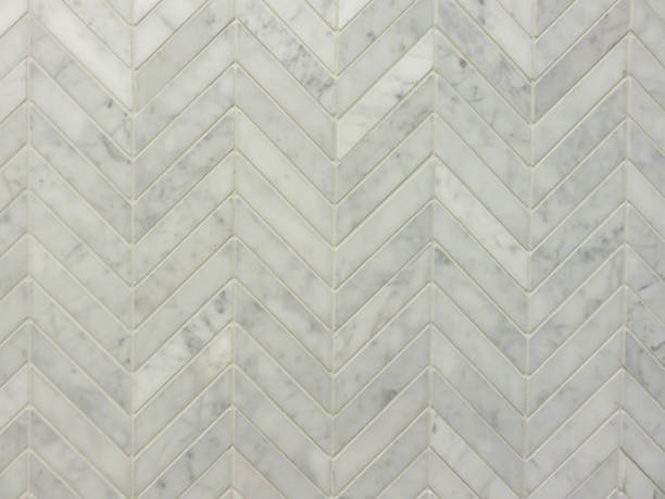 chevron wall tile front on - chevron stock photos and pictures