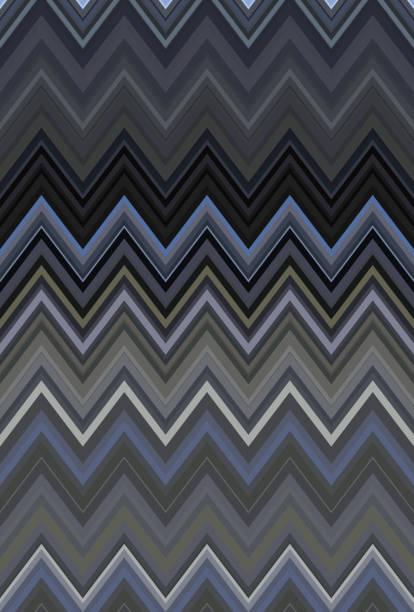 Chevron zigzag white black pattern abstract art background trends stock photo