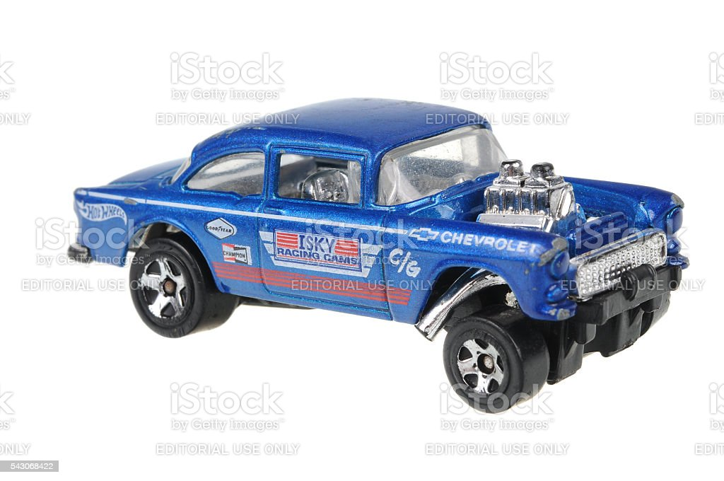 1955 Chevy Bel Air Gasser Hot Wheels Diecast Toy Car Stock Photo