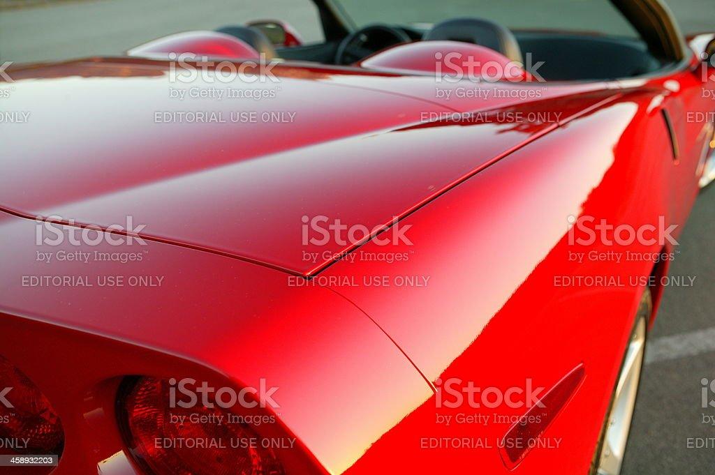 Chevy Corvette, 2005 convertible stock photo