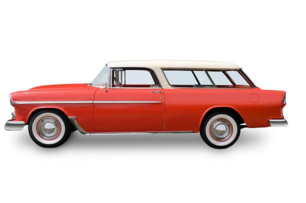 chevy nomad-kombi - 1955 - kombi stock-fotos und bilder
