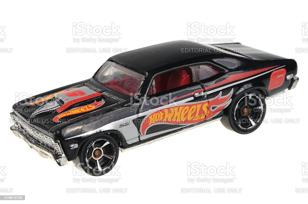 1968 Chevy Nova Hot Wheels Diecast Toy Car stock photo