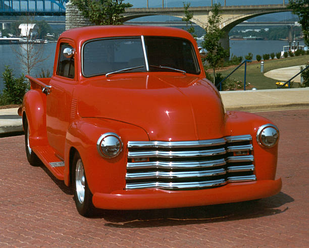 Chevy Pick Up Hot Rod Truck stock photo