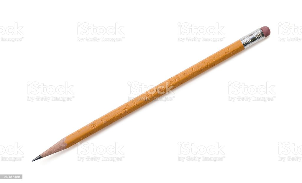 Chewed Pencil stock photo