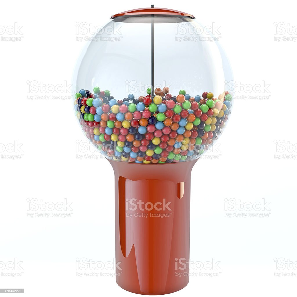 Chewing Gum Gumball Machine 3D Render stock photo