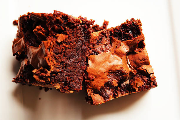 Chewy Brownies stock photo