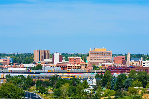 Cheyenne Downtown Skyline stock photo