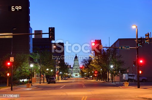 Downtown Cheyenne and the Wyoming State Capitol