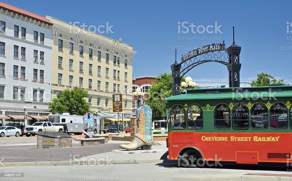 Cheyenne Wyoming Street Scene Stock Photo - Download Image
