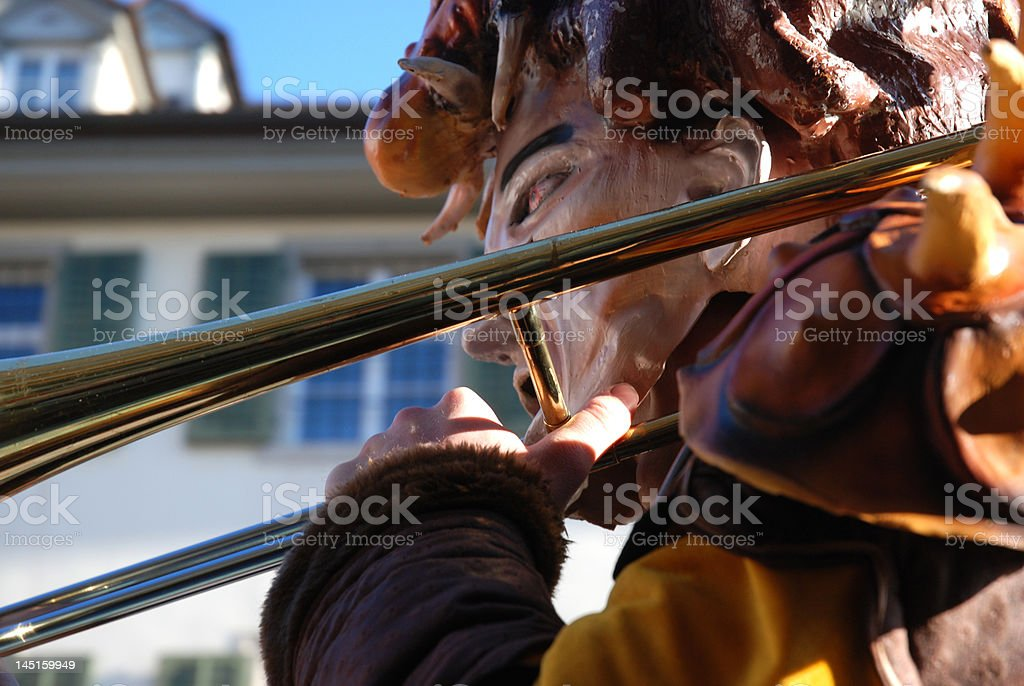 CH-Fasnacht royalty-free stock photo