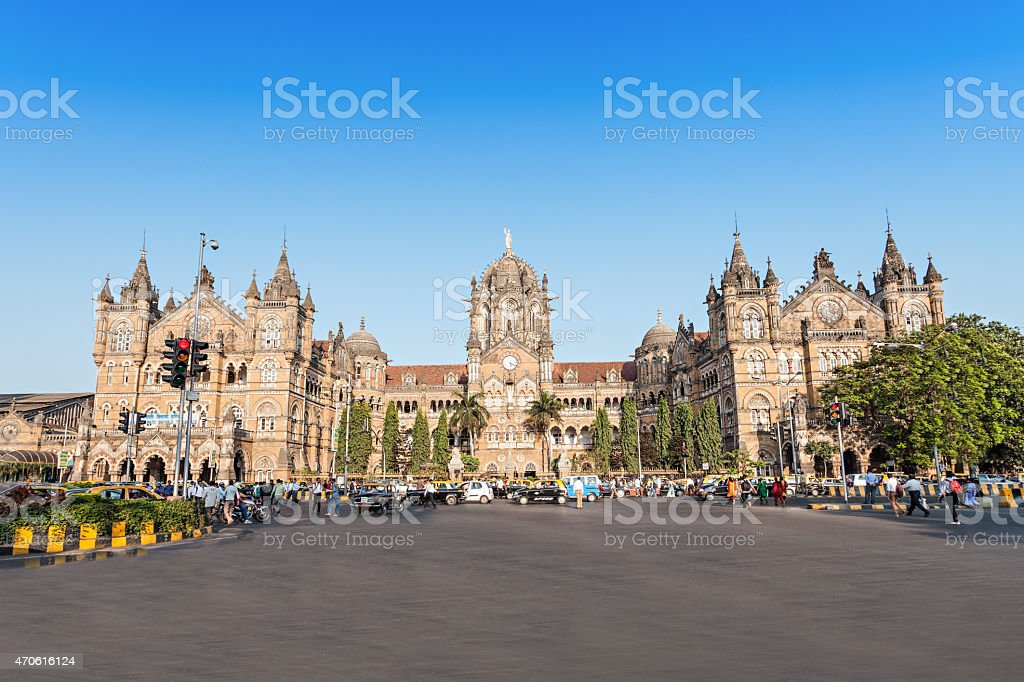 Chhatrapati Shivaji Terminus stock photo